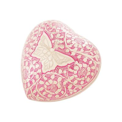 Pink Butterfly Urn