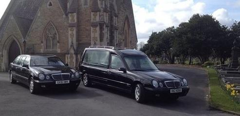 Our Hearse and Limousine at Warrington Cemetery