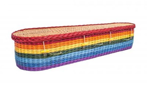 Rainbow Willow Coffin