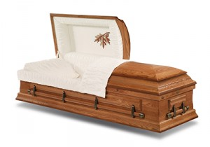 Golden Leaf Casket