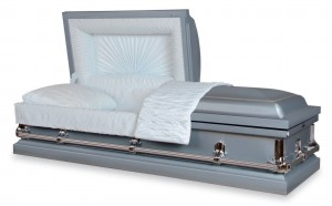 Warren Blue Casket